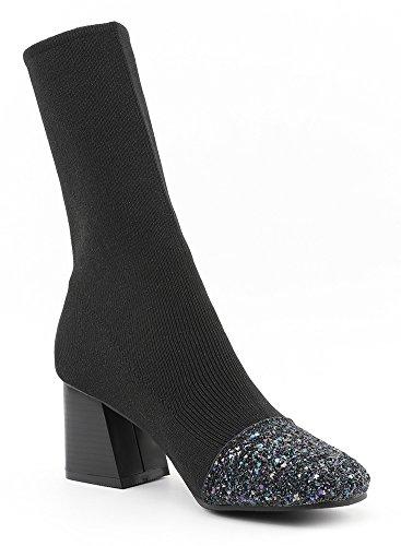 Mode Femme Carr Paillettes Bout Aisun Mollet qvxTWq5
