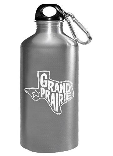 Grand Prairie Texas - Water Bottle (Grand Prairie Christmas Lights)