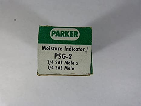 Parker Hannifin PSG2 Sight Glass Moisture Indicator 3.42 Length 1//4 SAE Male Flare x 1//4 SAE Male Flare Fitting
