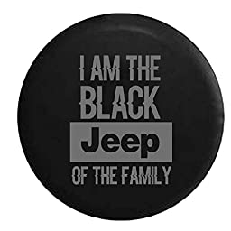 Stealth - Black Jeep of the Family Spare Tire Cover OEM Vinyl Black 32-33 in