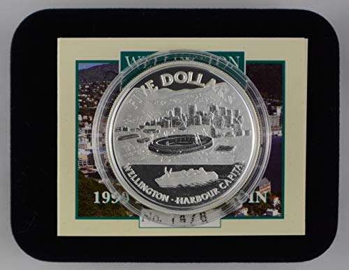 (1999 NZ Silver $5 Proof Coin - Wellington [Harbour Capital] $5 Uncirculated Reserve Bank Of New Zealand )