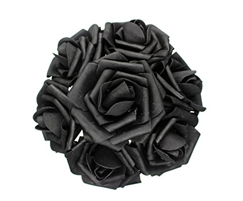 AnParty 25pcs Artificial Flower,Real Touch Artificial Foam Roses Decoration DIY for Wedding Bridesmaid Bridal Bouquet Centerpieces Party (25, -