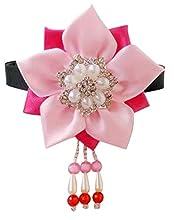CRB Fashion Korean Hanbok Hair Accessorry Costume Traditional Hair Clip Headband (Pink Pink)