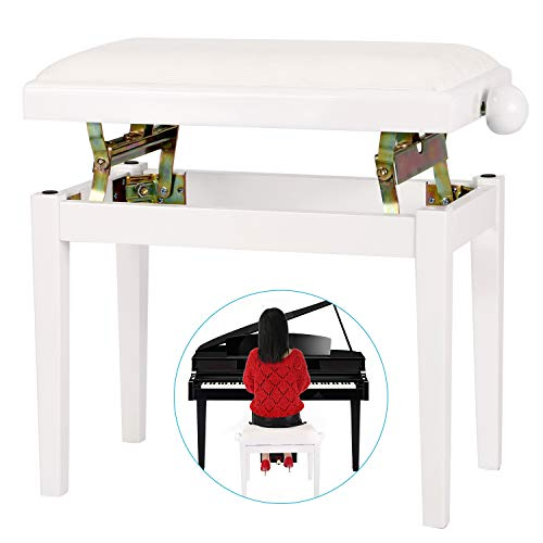 - Neewer NW-018A 28.15 x 7.09 x 14.57 inches / 71.50 x 18 x 37 centimeters Height Adjustable Piano Bench with Velvet Seat and Rubber Feet Perfect for Grand Pianos, Upright Pianos (White)