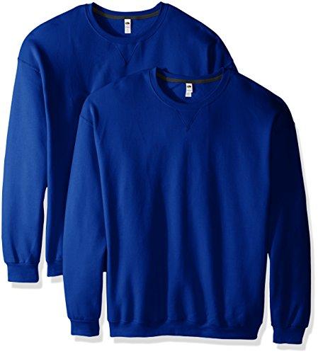 Crew Lightweight Pullover (Fruit of the Loom Men's Crew Sweatshirt (2 Pack), Royal, XX-Large)