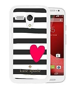 Unique Designed Kate Spade Cover Case For Motorola Moto G White Phone Case 219