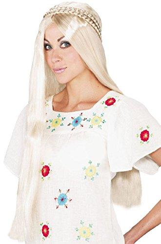 Hippie Girl Blonde Wig - Hippie Girl Halloween Costume Wig (Blonde)