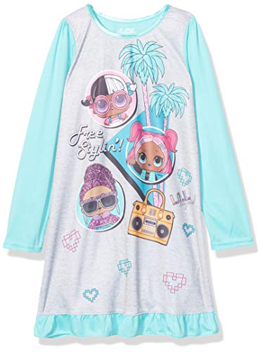 L.O.L. Surprise! Girls' Big Nightgown, Free Stylin', 8