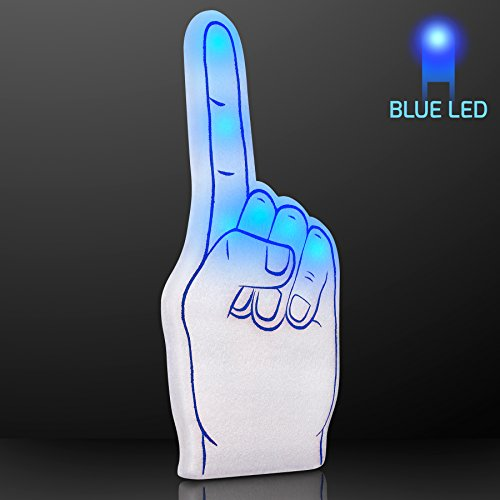 Blue Light Up #1 Foam Finger (1 Foam Finger)