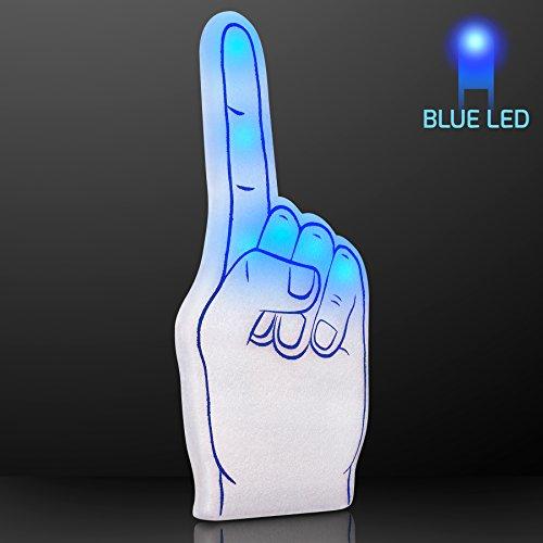 Blue Light Up #1 Foam Finger -