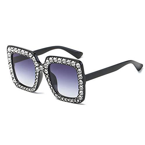 gafas gafas grande de cuadrado diamantes de europeas y con personalizados NIFG retro sol americanas de sol Marco UH1Rqf