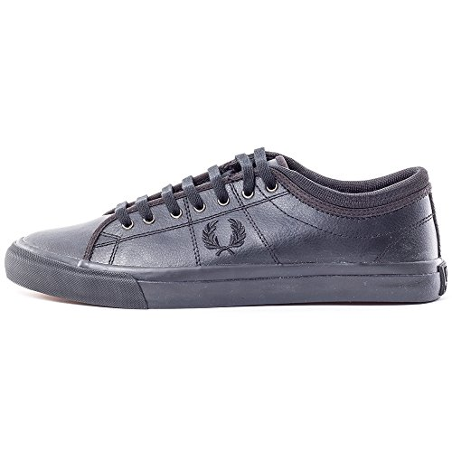 Fred Perry Kendrick Tipped Cuff Leather Homme Baskets Mode Noir