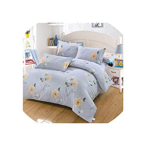 (Maja Shop-Bedspread Dandelion Romantic Pink Bedding Sets Girls Kids Beauty Bed Linen Bedclothes 4Pcs Duvet Cover Bed Sheet Pillowcase,Style,USA Queen Size,Flat Bed Sheet)