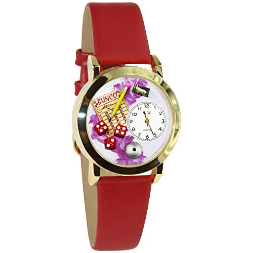 Whimsical Watches Women's C0430001 Classic Gold Bunco Red Leather And Goldtone Watch