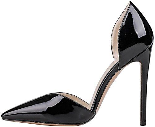 Zapatos azules Tacón de aguja formales Calaier para mujer wyMW3E8UTH