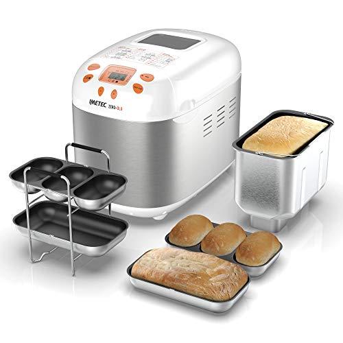 Imetec Zero-Glu – Panificadora, 20 Programas Pan y Dulces, sin Gluten, Accesorios para 3 Formas de Pan, Temporizador…