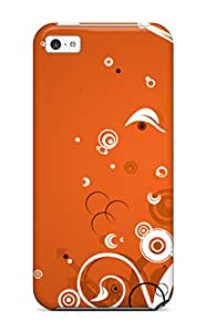 David Shepelsky's Shop Defender Case For Iphone 5c, Magical Orange Pattern 4595779K10748989