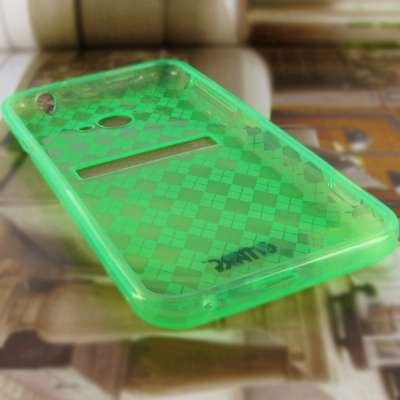 EMPIRE® HTC EVO 4G LTE Poly Skin Housse / Etui / Coque (Neon Green Diamond Pattern) [EMPIRE® Packaging]