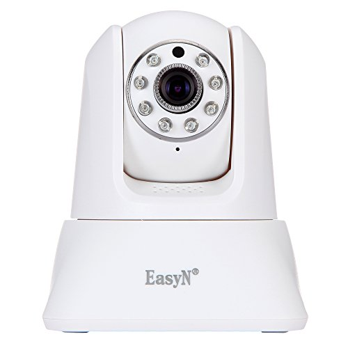 EasyN 187V 720P HD IP Camera Plug&Play Wireless Security Camera Remote Control Night Vision Motion Detection SD Card Slot