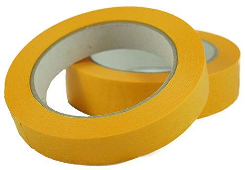 KOCO Universal Maler Klebeband Abklebeband Autolackierband Krepp gold/orange Tape 50 mm Korte & Co.