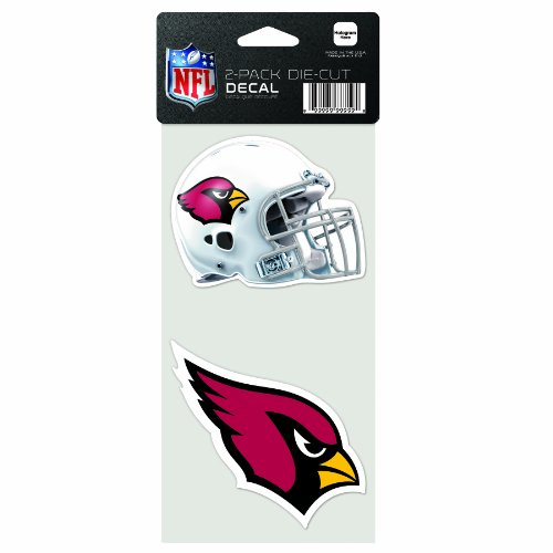 NFL Arizona Cardinals 2-Piece Die-Cut Decal, 4