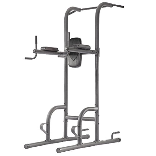 BestMassage Power Tower Exercise Equipment Durable Adjustable Multi-Fucdy Power Tower w/Dip Station & Pull Up Bar Push-Up Station And Wide Grip For Home Fitness