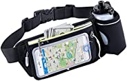 Sports Fanny Waist Pack Fashion Water Resistant Anti-Theft Can Touch Cell Phone'Screen for Marathon, Hiking, C