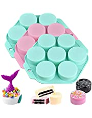 3 Pack Round Chocolate Cookie Molds, Cylinder Chocolate Cover Cookie Molds, Silicone Mold for Baking(Pink, green, random)