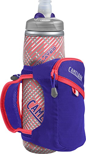 CamelBak Quick Grip Chill Handheld Water Bottle, Deep Amethyst/Fiery Coral, One Size