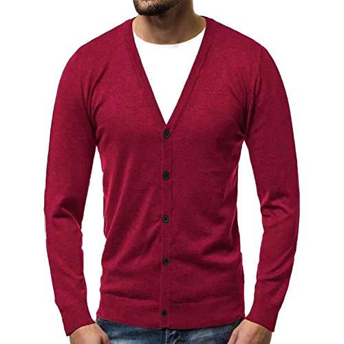 Realdo Men's V Neck Sweater, Mens Casual Solid