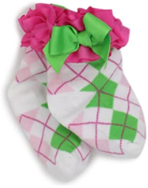 Newborn Baby-Girls Girl Hot Argyle Socks