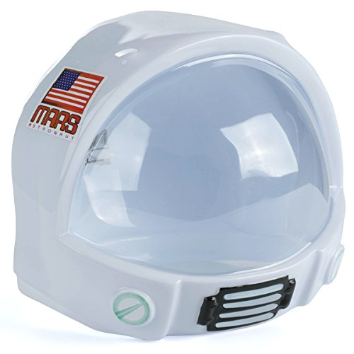 Outer Space Costumes (Astronaut Costume - Plastic Astronaut Helmet for Kids - Costume Dress Up Accessory by Tigerdoe)