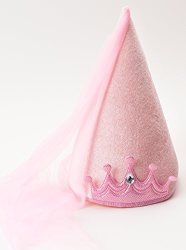 Little Adventures Princess Cone Hats for Girls – Pink