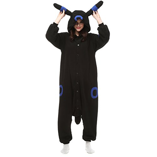 ESY Costume Adult Pajamas Cosplay Onesie Black Blue Umbreon (Cheap Costumes Free Shipping)