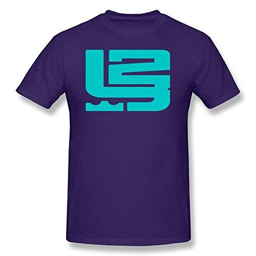 LENOJE Men's Special Designed LeBron Raymone James 23 Logo Cotton Tees Purple XS