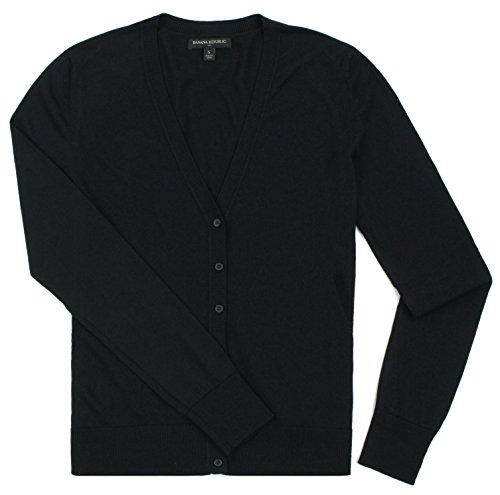 Banana Republic - Women's - V-Neck Button Down Cardigan (Multiple Color Options (Small, Black) from Banana Republic