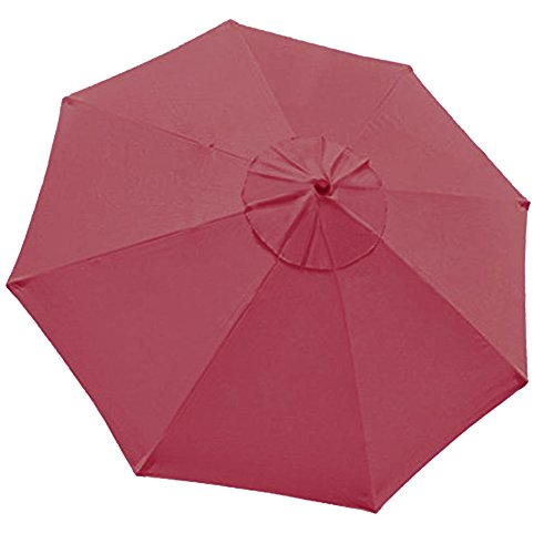 Eliteshade 9ft Patio Umbrella Market Table Outdoor Umbrella Replacement Canopy 8 Ribs (Burgundy)…