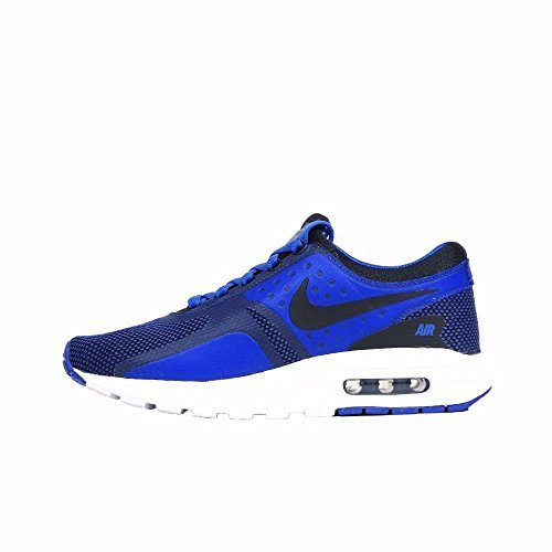 Nike AIR MAX ZERO ESSENTIAL GS boys running-shoes 881224-004_6.5Y - BLACK/BLACK-PARAMOUNT BLUE-BINARY BLUE
