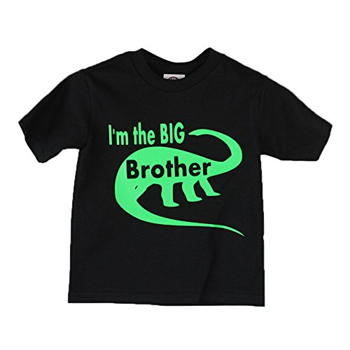 "Price comparison product image Little Boys Black Green ""I'm The Big Brother"" Print Cotton T-Shirt 5T"