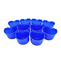 Accrie 10 pcs Cup Hanging Water Feed Cage Cups for Poultry Gamefowl Rabbit Chicken Pigeons