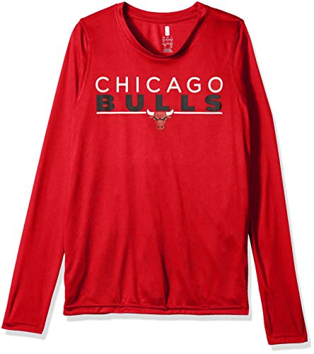 Outerstuff NBA NBA Youth Boys Chicago Bulls Tactical Stance Long Sleeve Performance Tee, Red, Youth Large(14-16)