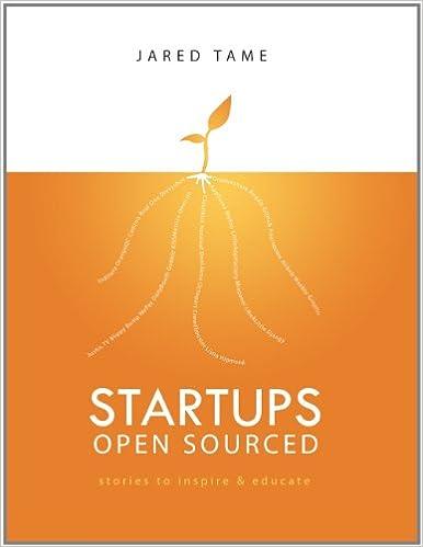 Epub book à télécharger gratuitement Startups Open Sourced by Jared Tame PDF ePub