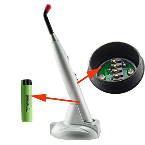 BoNew USA Dental 10W Cordless LED Light Lamp 2000mw For Teeth Whitening Silver by BoNew (Image #3)