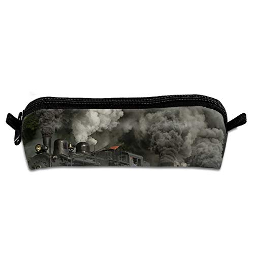 Diemeouk Pencil Case Train Locomotive Zippered Pen Bag Cosmetic Makeup Bags for Colored Watercolor Pencils (Locomotive Telephone)