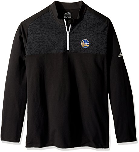 NBA Golden State Warriors Men's Climawarm Fashion 2 Layering 1/4 Zip Pullover Jacket, Black, X-Large