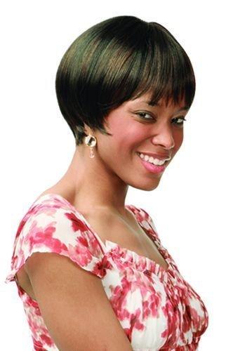 Deedee (1 Jet Black) - Motown Tress Feather Lite Synthetic Short Hair Wig -