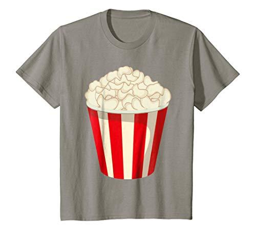 Kids Funny Popcorn Halloween Snack T-Shirt Last Minute Costume 6 Slate ()