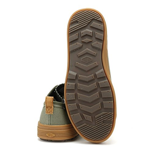 Palladium Night Canvas Baskets Low Homme Sub Olive Mid Gum rZvwr