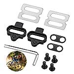 Kupink-Set-di-tacchette-per-Pedali-SPD-compatibili-con-Shimano-Mountain-Bike-Ciclismo-e-Bici-da-Spinning
