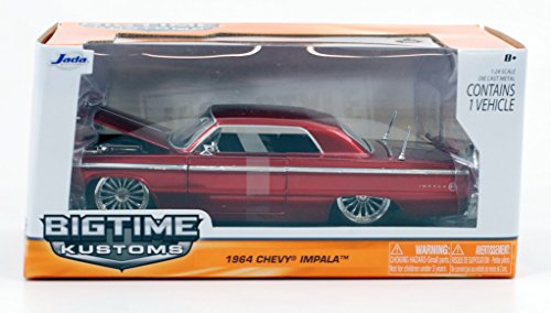 Jada 1964 Chevy Impala SS Bigtime Kustoms 1:24 Scale (Red)